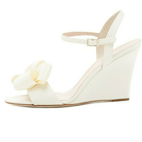 7ab9814eb8d Kate Spade Ivory Bow Wedges